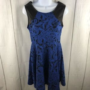 Vfish size S blue & black cocktail dress